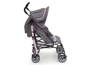 Delta Children Cobalt Pink (658) Geo Umbrella Stroller, Full Right Side View with Canopy Option b3b
