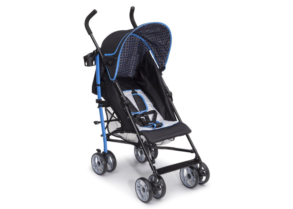 Delta Children Cobalt Black (491) Geo Umbrella Stroller, Right Side View a1a