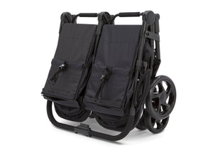 Jeep® Destination Side x Side Double Ultralight Stroller, Midnight (2013), Easy and compact standing fold
