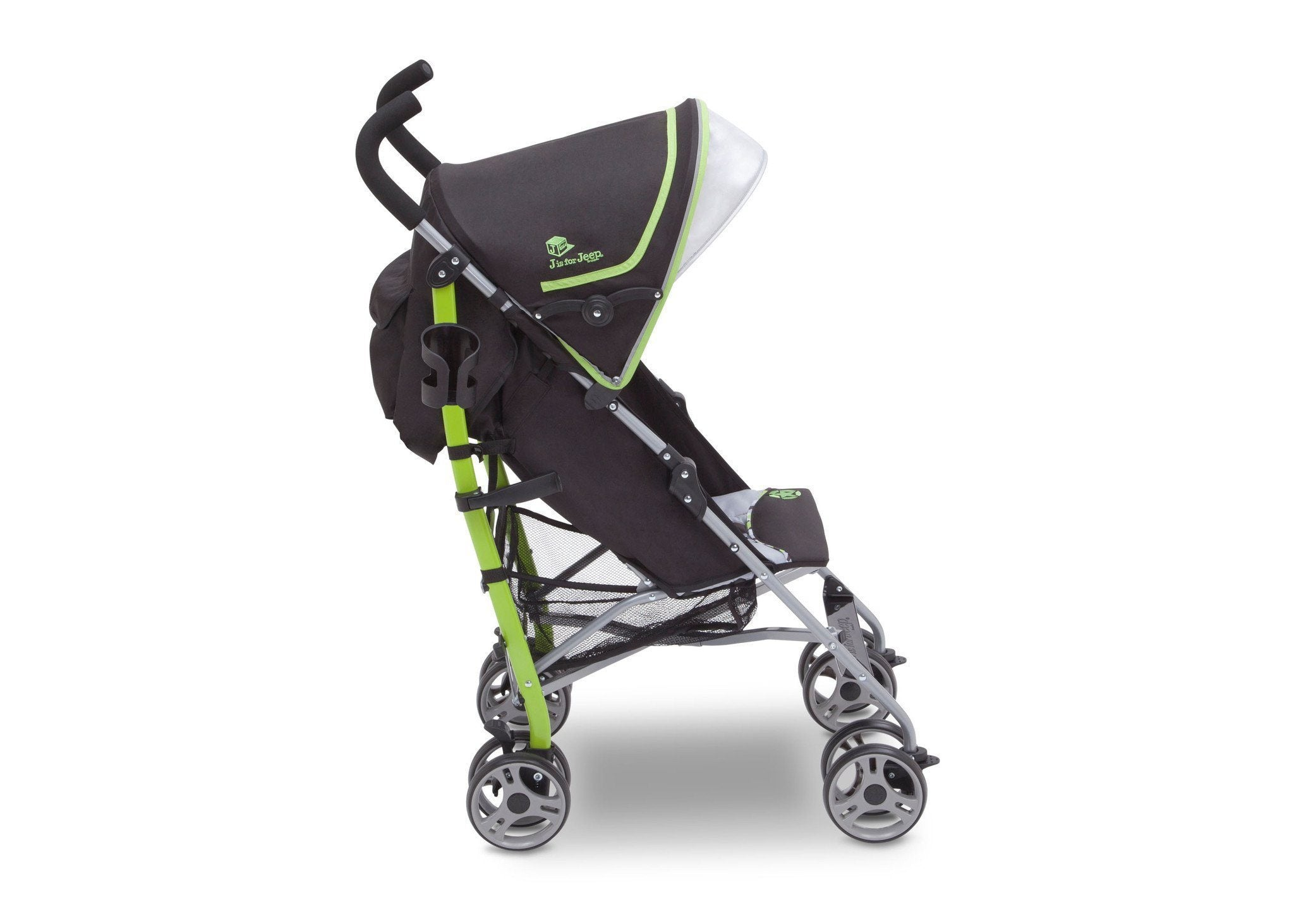 J is for Jeep Brand Camouflage Green (350) Scout AL Sport Stroller, Full Right View, a2a