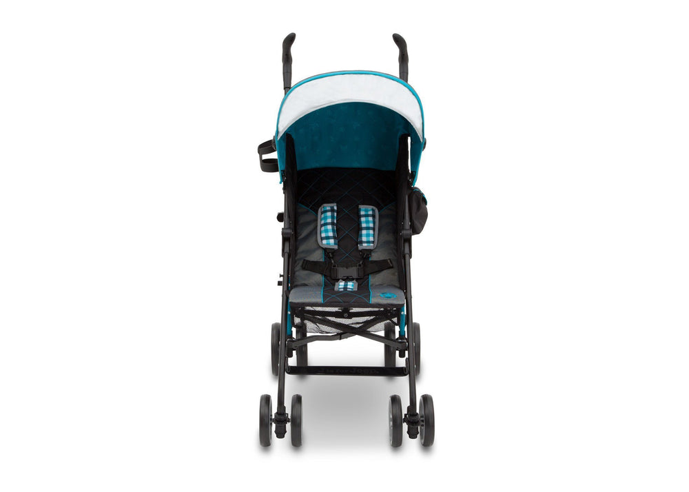 Delta Children J is for Jeep Brand Scout Stroller Front View, with Canopy and Sun Visor