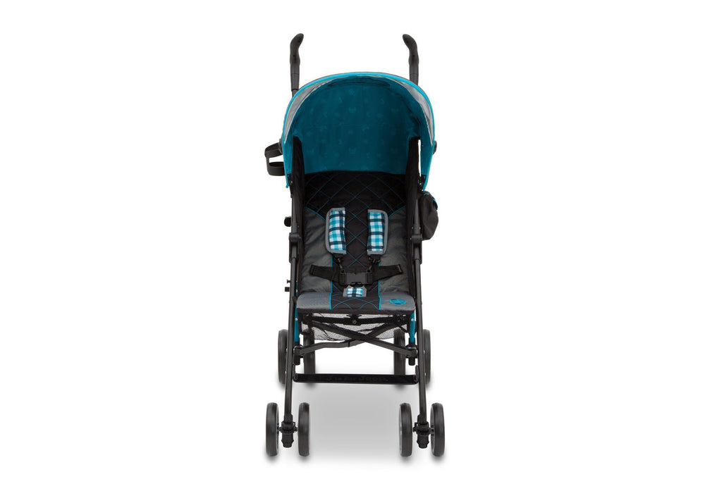 Delta Children J is for Jeep Brand Scout Stroller Sag Harbor (429) Front View, with Canopy a3a
