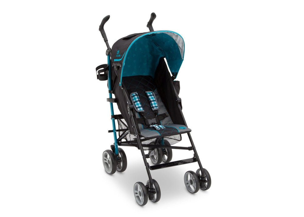 Delta Children J is for Jeep Brand Scout Stroller Right Side View, with Canopy