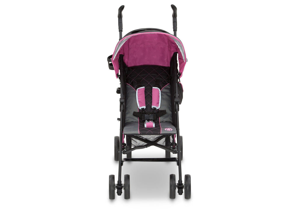 Delta Children J is for Jeep Brand Scout Stroller Berry Patch (659) Front View, with Canopy b3b
