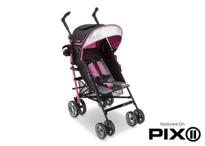 Jeep® Scout Stroller Sag Berry Patch (659), Right Side View with Canopy