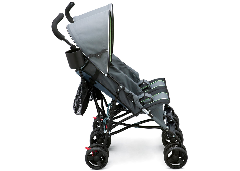 Delta Children Lime & Grey (013) LX Side by Side Stroller b1b