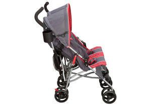 Delta Children Grey & Red (026) LX Side by Side Stroller (11701) Side View
