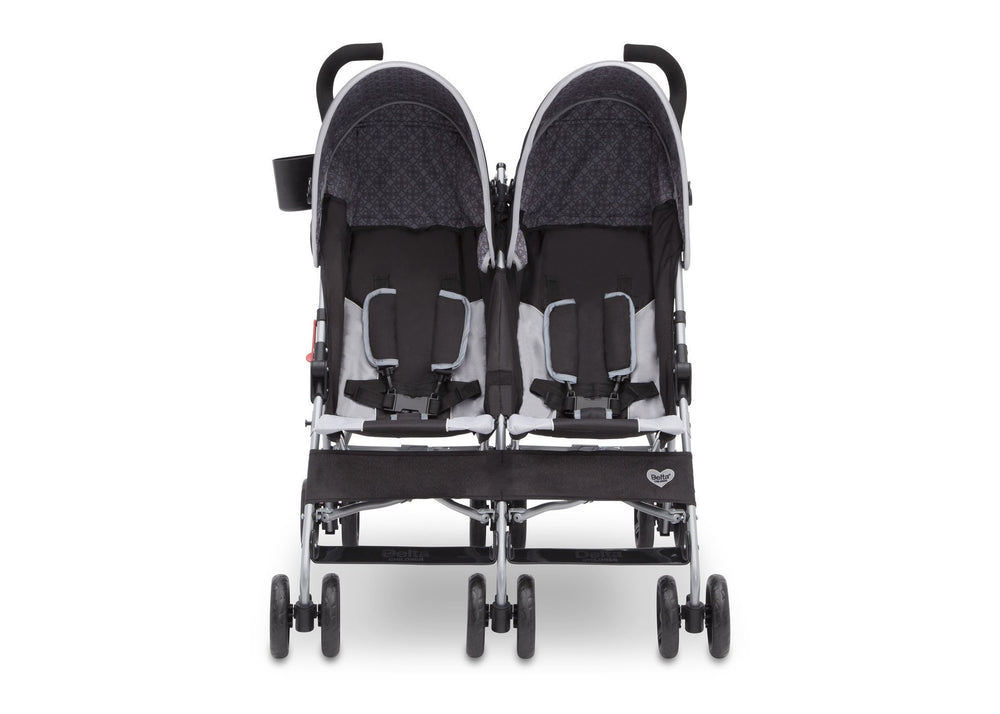 Delta Children Gateway (2296) LX Side by Side Stroller, Front View h2h