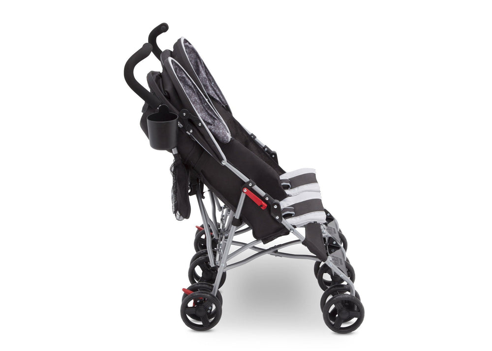 Delta Children Gateway (2296) LX Side by Side Stroller, Side View h3h