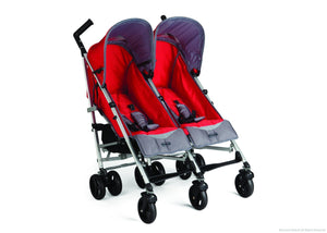 Simmons Kids Red Tour LX Side by Side Stroller, Red (623) Right Side View a1a