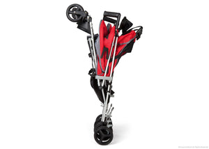 Simmons Kids Red Tour LX Side by Side Stroller, Red (623) Folded a3a