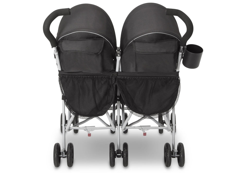 Delta Children Charcoal Galaxy (2271) J is for Jeep® Brand Scout Double Stroller, Rear View d5d