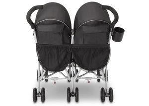 Jeep Brand Scout Double Stroller by Delta Children, Charcoal Galaxy (2271), with abundant storage including double rear canopy bags and double hanging storage bags