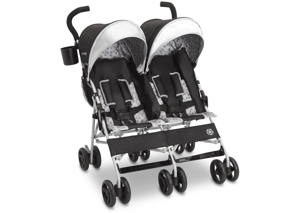 Delta Children Charcoal Galaxy (2271) J is for Jeep® Brand Scout Double Stroller, Right View d1d