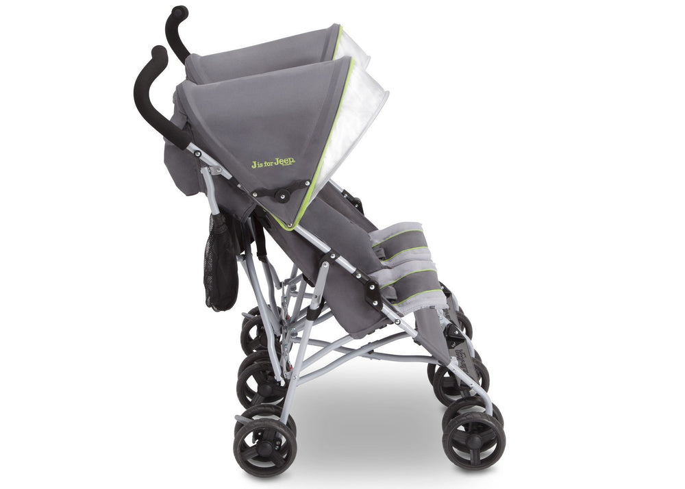Delta Children Fairway (340) J is for Jeep® Brand Scout Double Stroller, Side View a2a