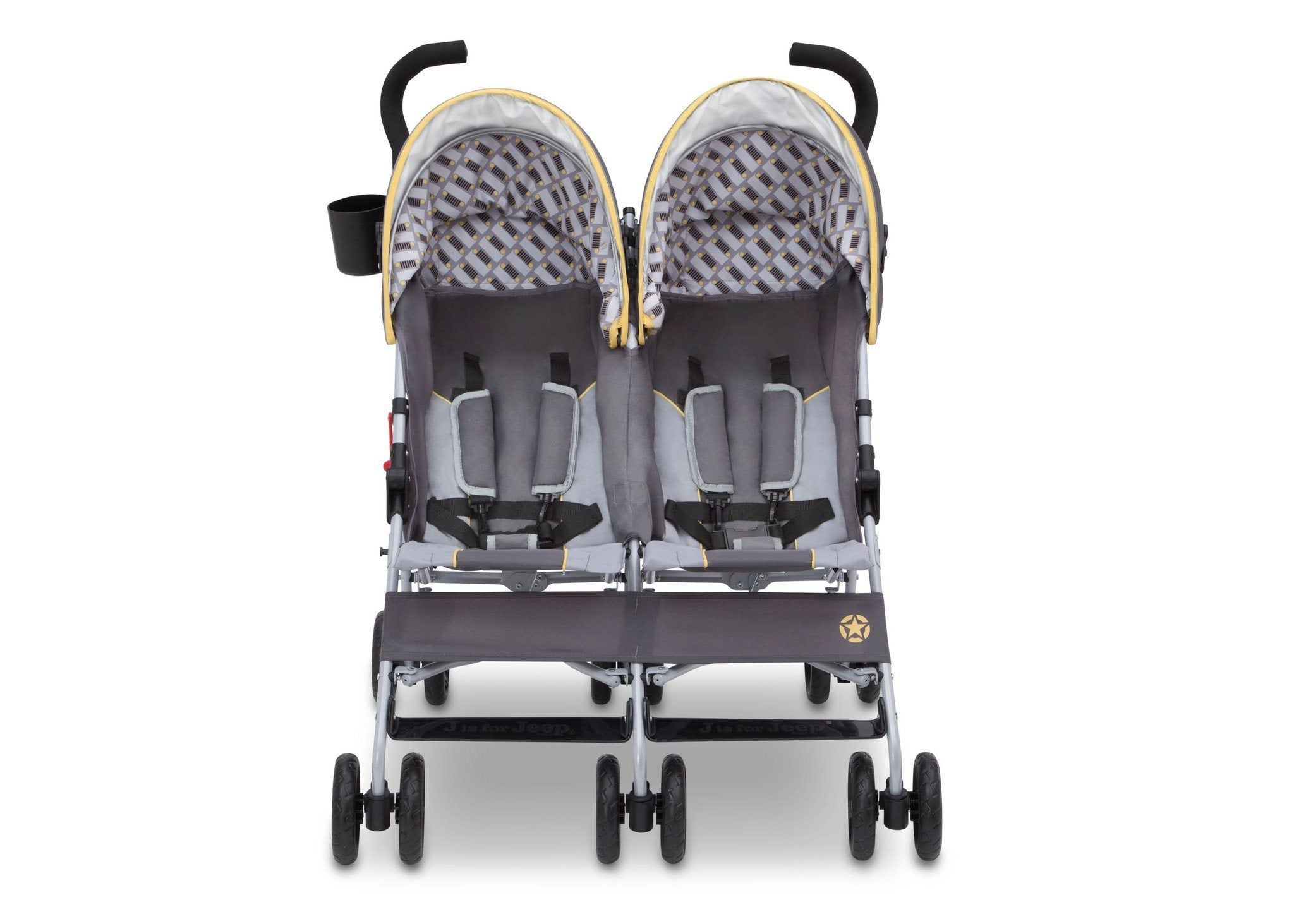 Jeep Brand Scout Double Stroller by Delta Children, Spot On (722), with multi-position reclining seat