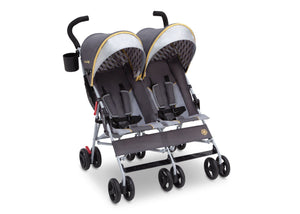 Jeep Brand Scout Double Stroller by Delta Children, Spot On (722), with extendable European-style canopy