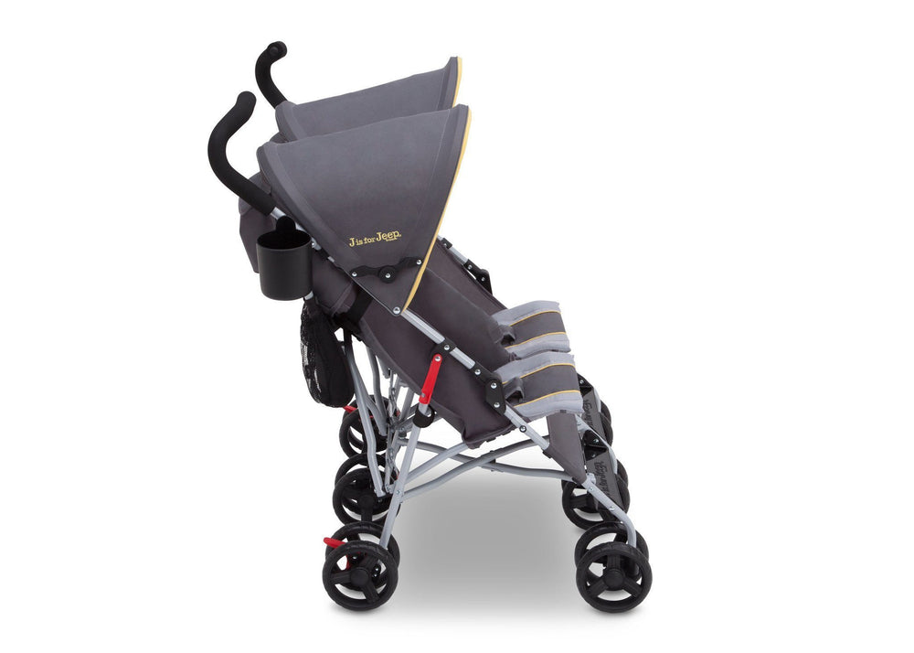 J is for Jeep Brand Scout Double Stroller Spot On (722), Side View, b2b