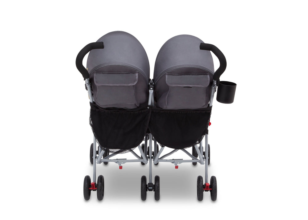 J is for Jeep Brand Scout Double Stroller Spot On (722), Back View, b3b