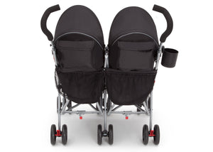 LX Pkus Side x Side Double Stroller Red Triangular (2246), Back View