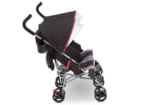 Delta Children Red Triangular (2246) LX Plus Side x Side Double Stroller (11709), Right View, b4b