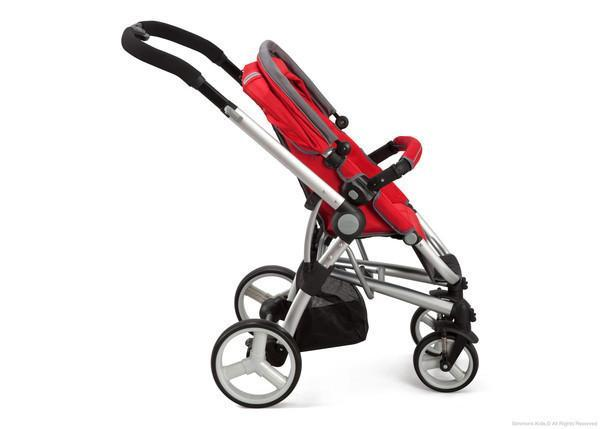 Simmons Kids Red (623) Tour Vantage Stroller, Red Full Right Side View a3a