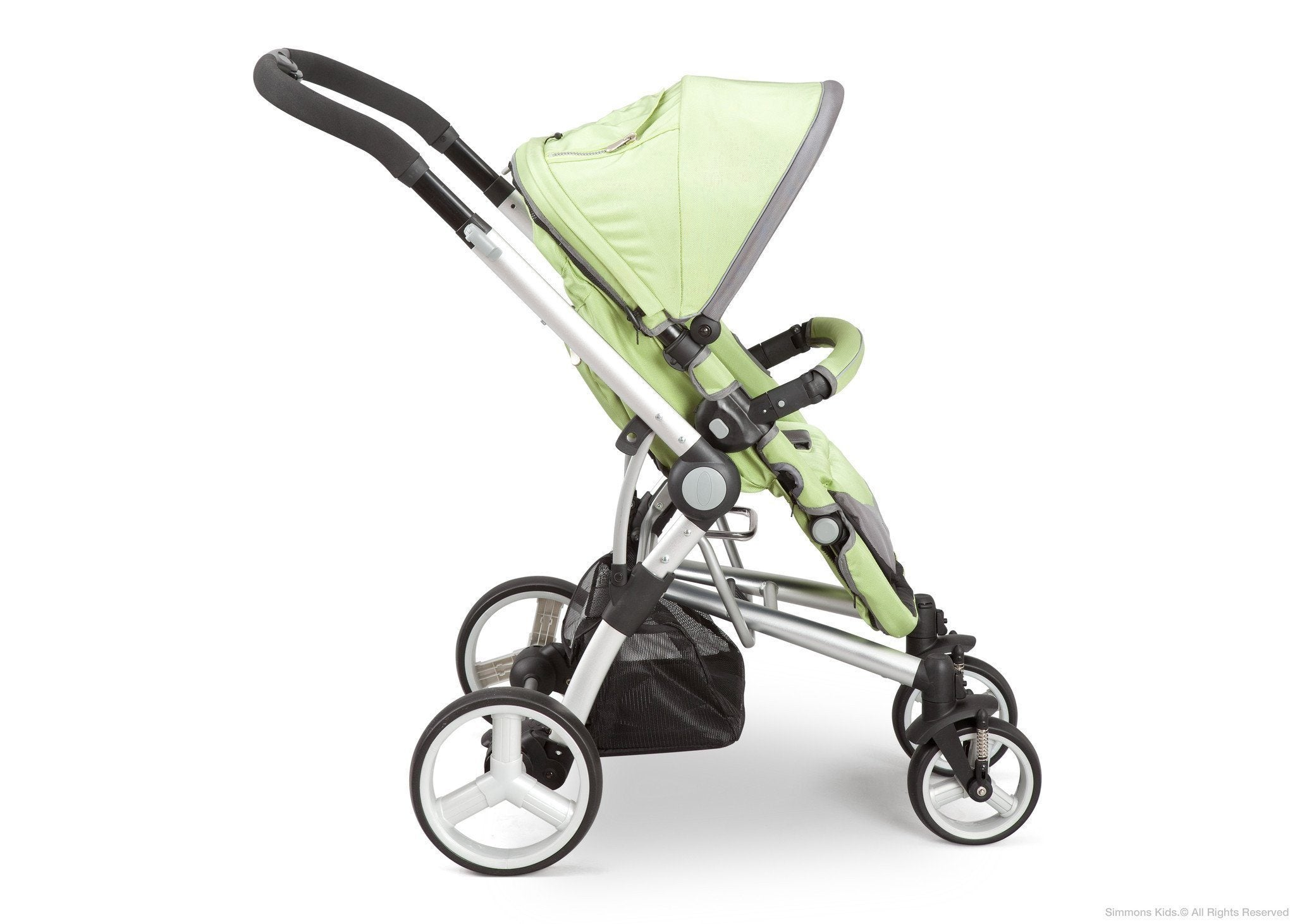 Simmons Kids Bright Green (320) Tour Buggy Stroller Side View a2a
