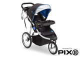 Delta Children J is for Jeep Brand Trek Blue Tonal (436) Cross Country All Terrain Jogging Stroller Folded b6b