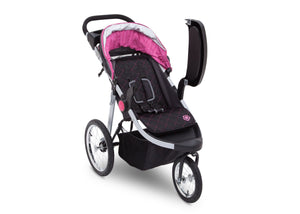 Delta Children J is for Jeep Brand Trek Pink Tonal (656) Cross Country All Terrain Jogging Stroller Right Side View c2c