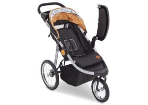 Delta Children J is for Jeep Brand Trek Orange Tonal (838) Cross Country All Terrain Jogging Stroller Right Side View e2e