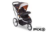 Delta Children J is for Jeep Brand Trek Orange Tonal (838) Cross Country All Terrain Jogging Stroller Folded e5e