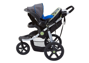 Jeep Adventure All Terrain Jogger Stroller by Delta Children, Destination (314), with generous undercarriage storage bin