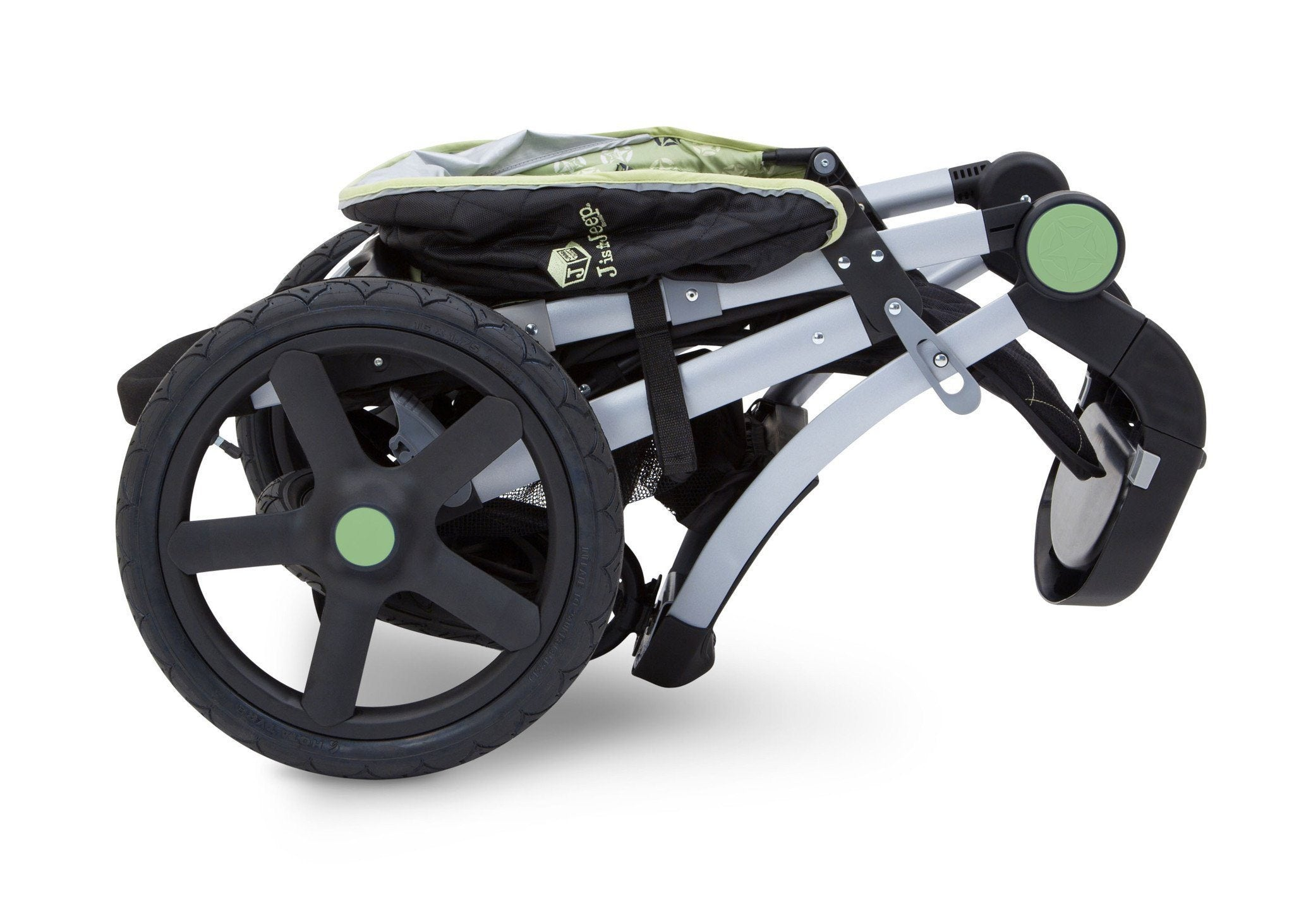 Jeep Adventure All Terrain Jogger Stroller by Delta Children, Destination (314), can be folded quickly and compactly
