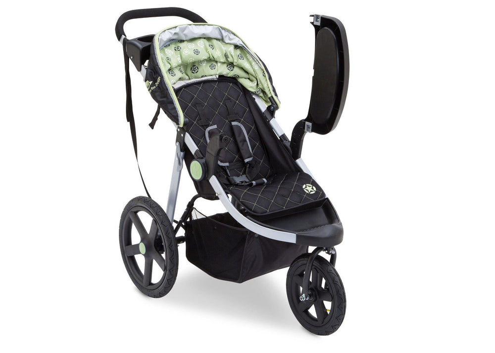 Delta Children Destination (314) J is for Jeep Brand Adventure All Terrain Jogger Stroller Right Side View d2d