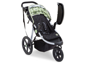 Jeep Adventure All Terrain Jogger Stroller by Delta Children, Destination (314), with swing-away child tray for easy infant loading