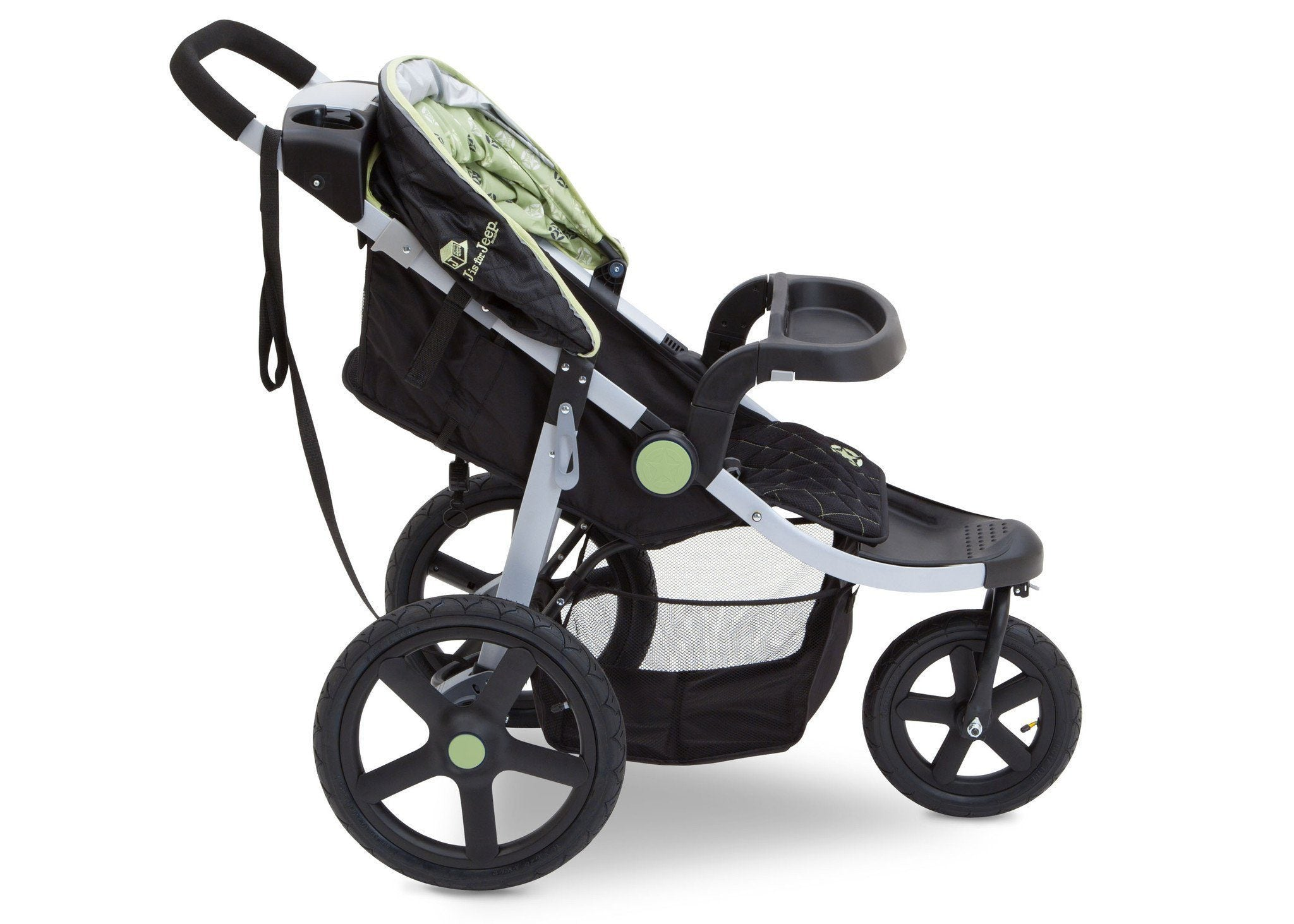 Jeep Adventure All Terrain Jogger Stroller by Delta Children, Destination (314), with multi-position reclining seat