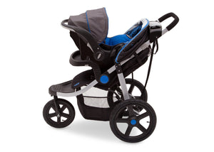 Jeep Adventure All Terrain Jogger Stroller by Delta Children, Tracks (439), with generous undercarriage storage bin