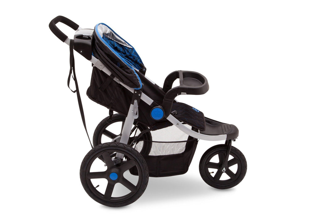 Delta Children Tracks (439) J is for Jeep Brand Adventure All Terrain Jogger Stroller Full Right Side View, with Child Tray Tracks a4a