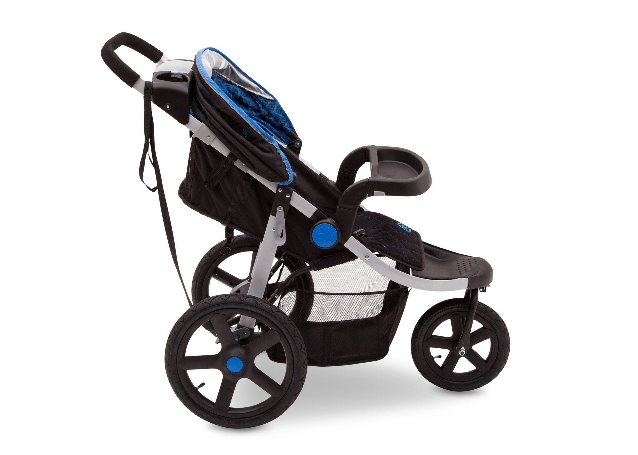 Jeep Adventure All Terrain Jogger Stroller by Delta Children, Tracks (439), with multi-position reclining seat