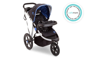 Jeep Adventure All Terrain Jogger Stroller by Delta Children, Tracks (439), with extendable and quilted European canopy