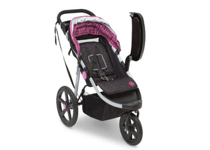 Jeep Adventure All Terrain Jogger Stroller by Delta Children, Berry Tracks (678), with swing-away child tray for easy infant loading