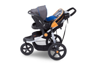 Jeep Adventure All Terrain Jogger Stroller by Delta Children, Galaxy (850), with generous undercarriage storage bin