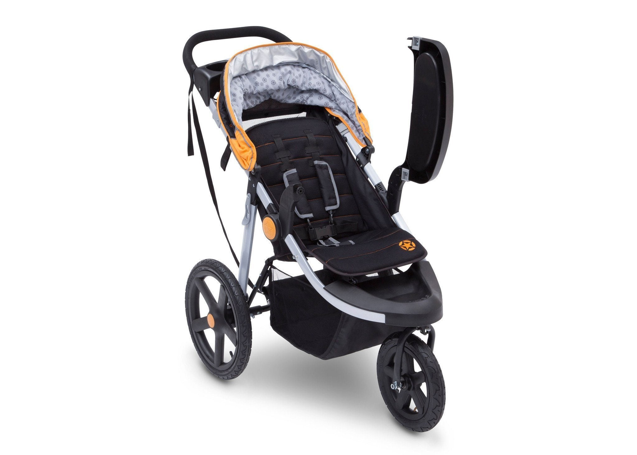 Jeep Adventure All Terrain Jogger Stroller by Delta Children, Galaxy (850), with swing-away child tray for easy infant loading