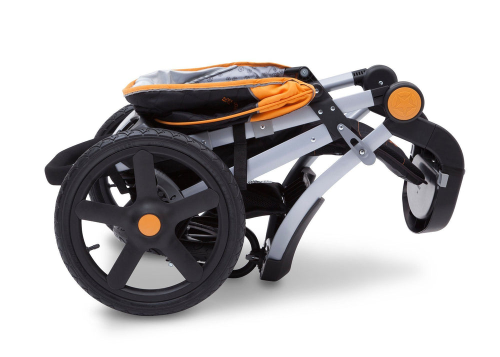 Delta Children Galaxy (850) J is for Jeep Brand Adventure All Terrain Jogger Stroller Folded c7c