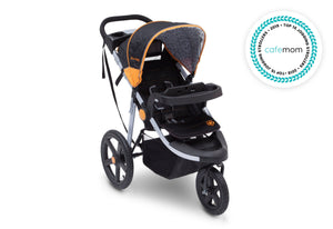 Jeep Adventure All Terrain Jogger Stroller by Delta Children, Galaxy (850), with extendable and quilted European canopy