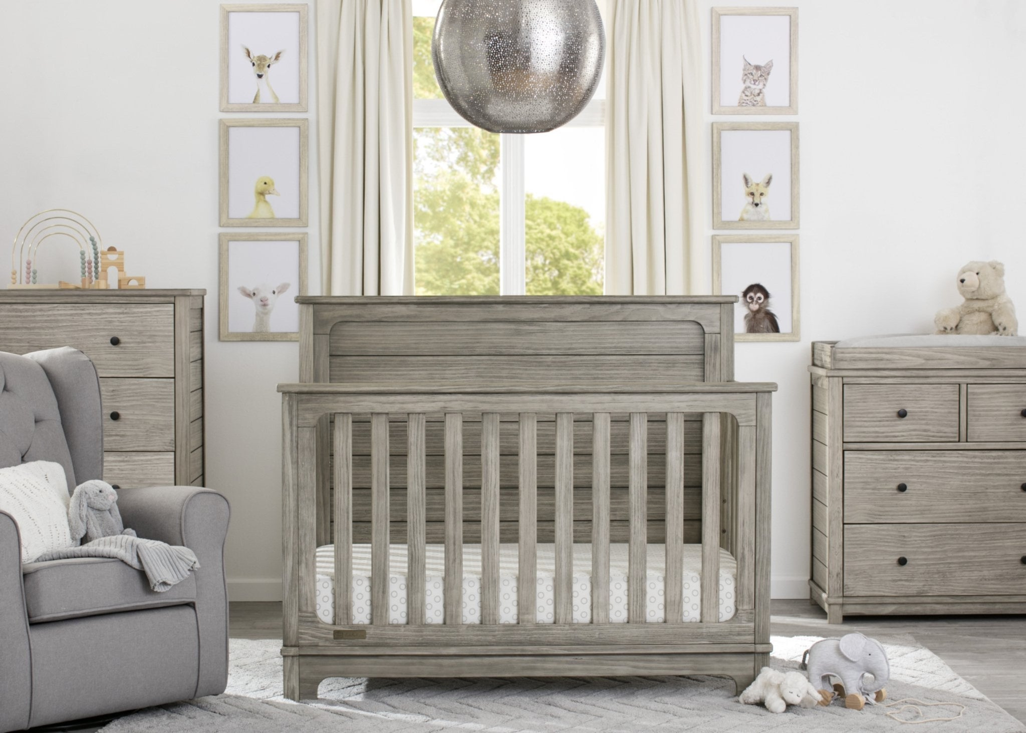 Monterey Crib N More Rustic White (119)