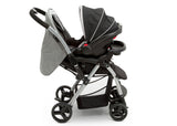J is for Jeep® Grey Tweed (2001) Unlimited Reversible Handle Stroller (12198), Car Seat Full Right Side View, a6a