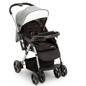 Delta Children Dark Tweed (2092) Pearl II Reversible Handle Stroller (12199), Right Side View, a2a