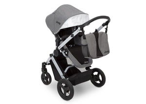 Jeep Brand Sport Utility All-Terrain Stroller by Delta Children, Grey on Silver (2400) with detachable parent organizer