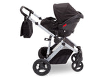 Delta Children Black on Silver (2401) Jeep Brand Sport Utility All-Terrain Stroller, Car Seat View